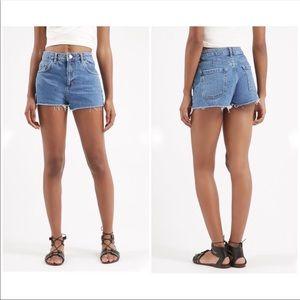 Topshop Moto Mom High Rise Jean Shorts